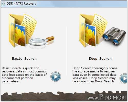 NTFS Files Recovery Utility screen shot